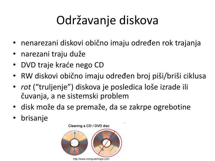 Održavanje diskova