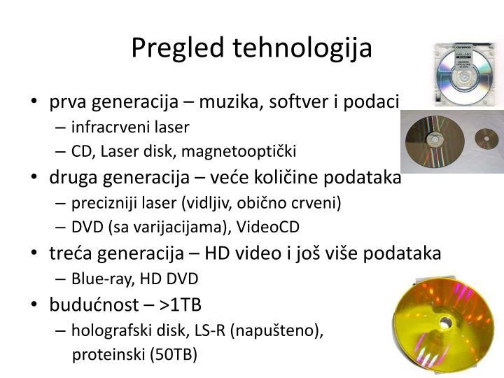 Pregled tehnologija