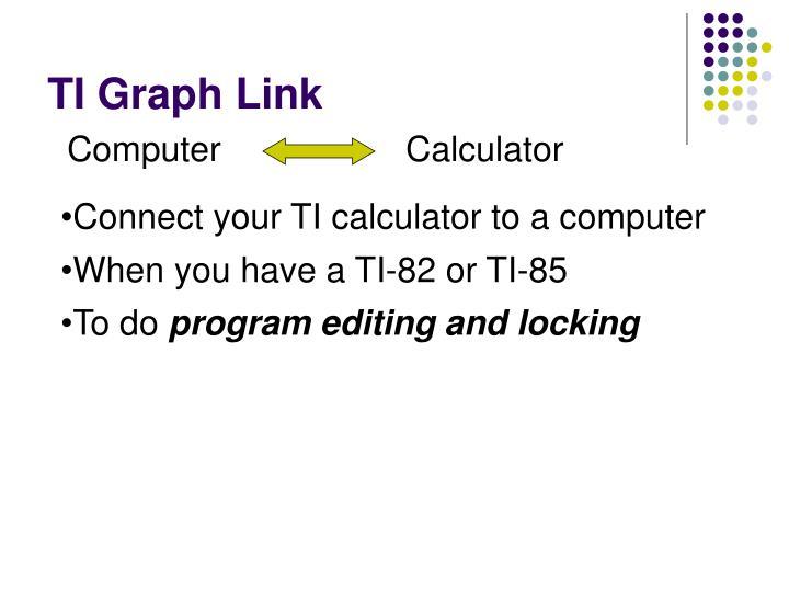 TI Graph Link
