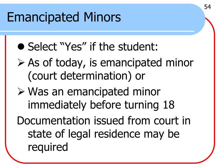 Emancipated Minors