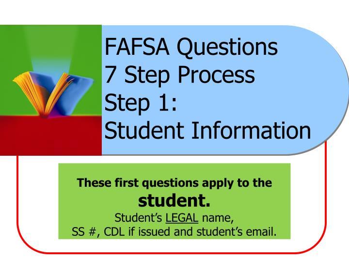 FAFSA Questions