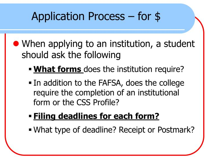 Application Process – for $