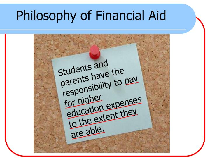Philosophy of Financial Aid