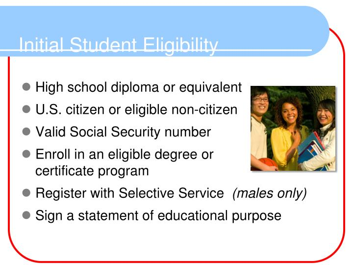 Initial Student Eligibility
