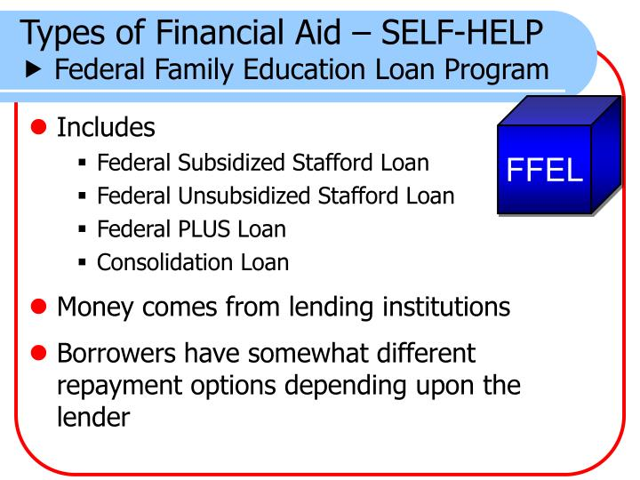 Types of Financial Aid – SELF-HELP