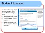student information1