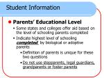 student information4