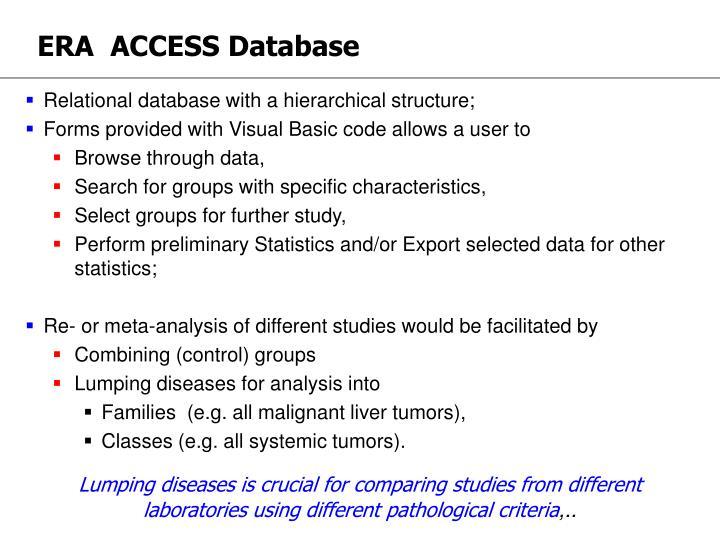 ERA  ACCESS Database