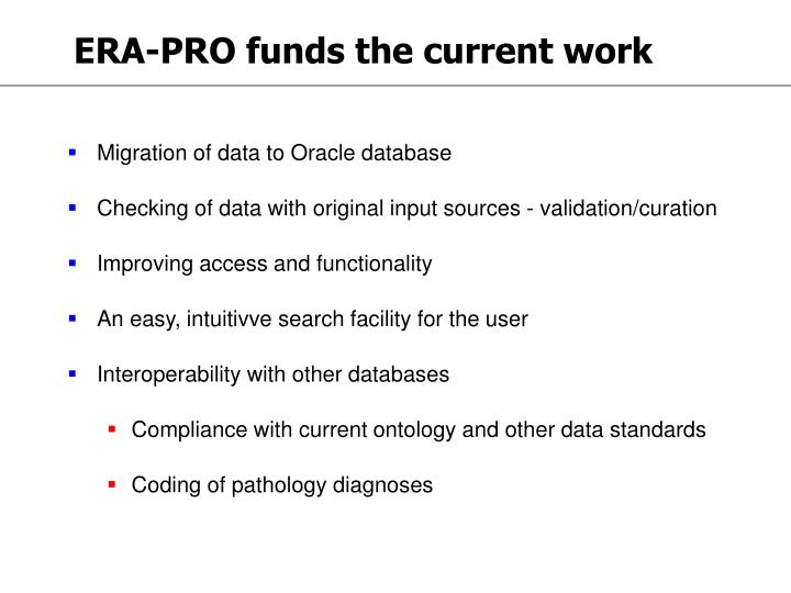 ERA-PRO funds the current work