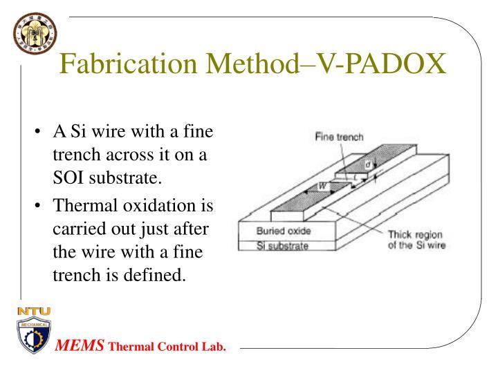 Fabrication Method–V-PADOX