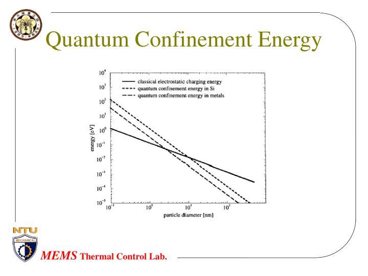 Quantum Confinement Energy