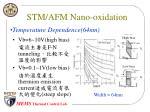 stm afm nano oxidation