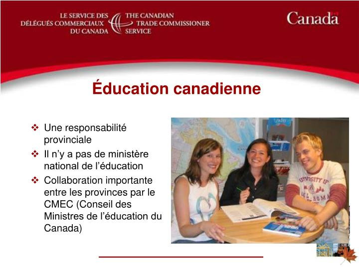 Éducation canadienne