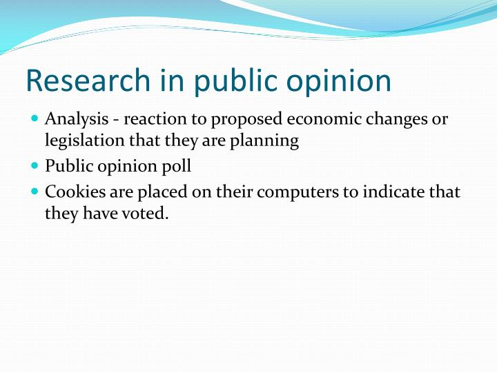 Research in public opinion