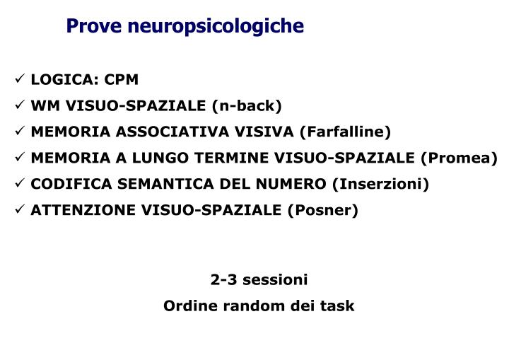 Prove neuropsicologiche