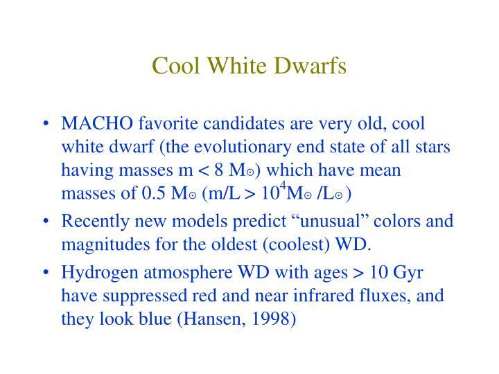 Cool White Dwarfs