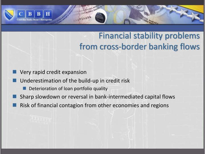 Financial stability problems