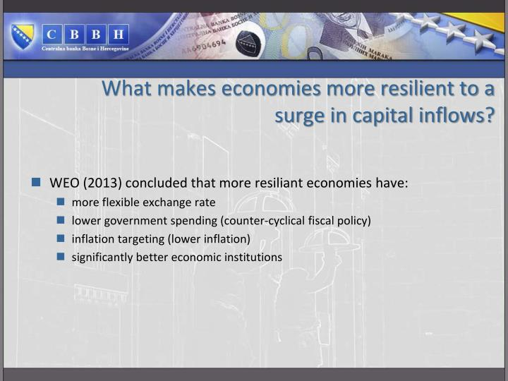 What makes economies more resilient to a surge in capital inflows?