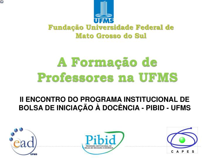 Funda o universidade federal de mato grosso do sul