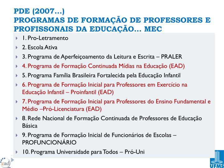 PDE (2007...)