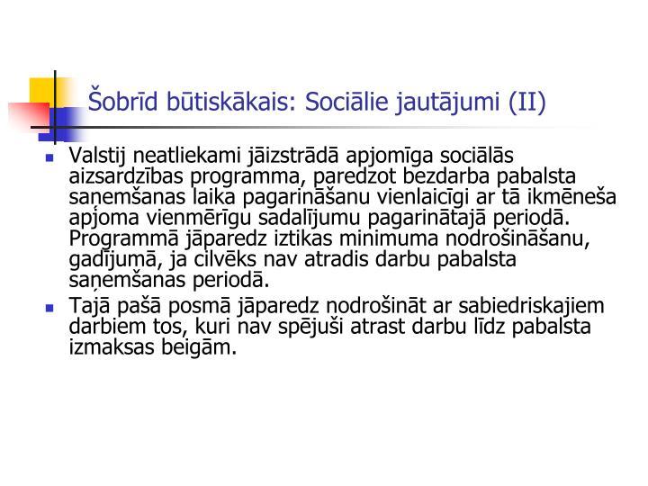 Šobrīd būtiskākais: Sociālie jautājumi (II)