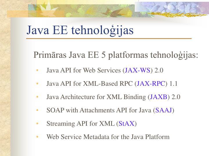 Java EE tehnoloģijas
