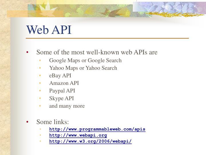 Web API
