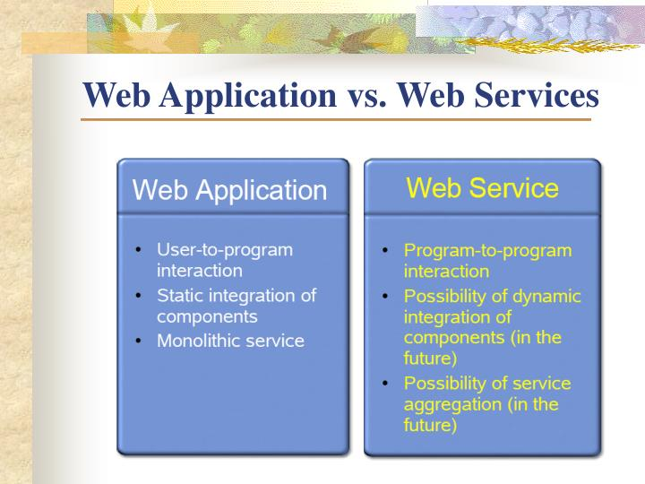 Web Application vs. Web Services