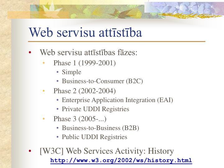Web servisu attīstība