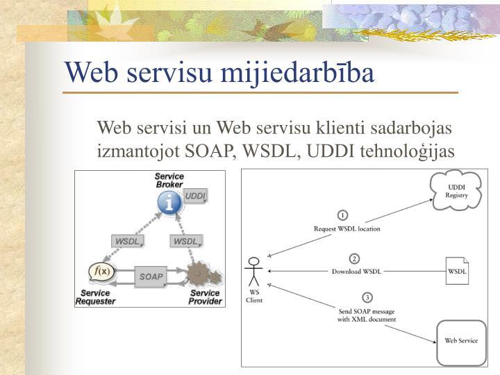 Web servisu mijiedarbība