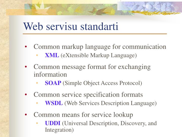 Web servisu standarti
