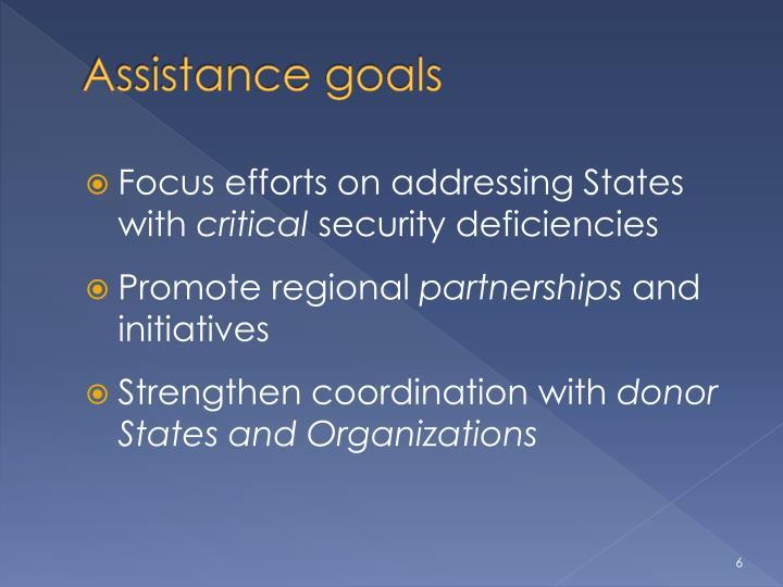 Assistance goals