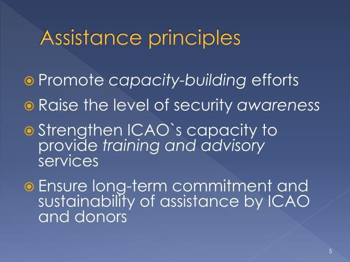 Assistance principles