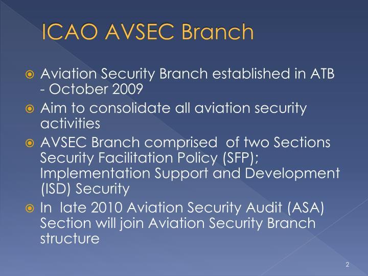 ICAO AVSEC Branch