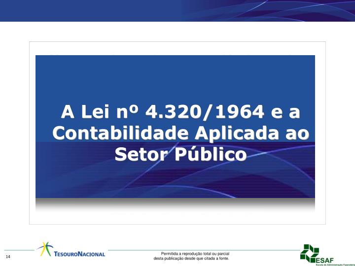 A Lei nº 4.320/1964 e