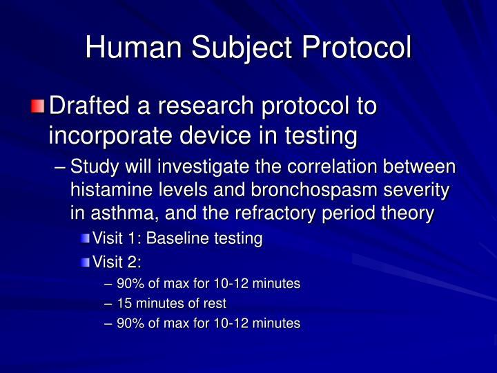 Human Subject Protocol