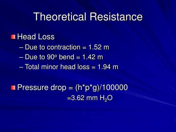 Theoretical Resistance