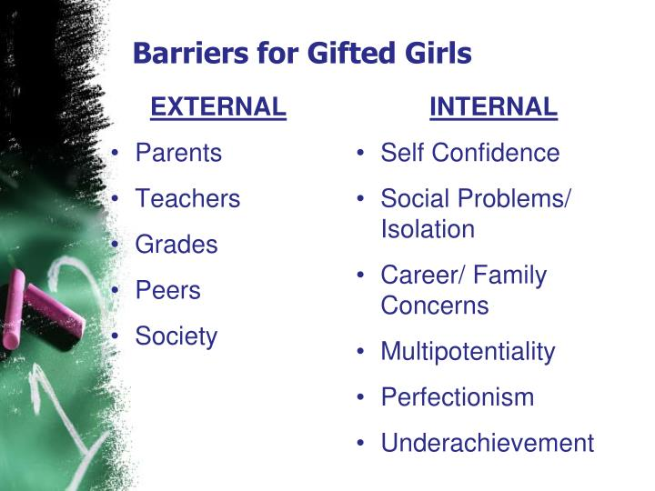 Barriers for Gifted Girls