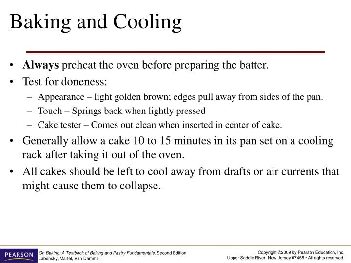 Baking and Cooling