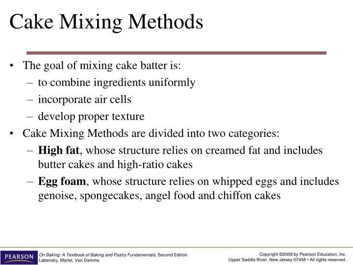 Cake Mixing Methods