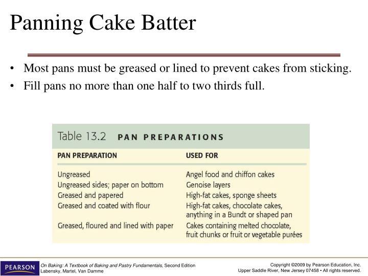 Panning Cake Batter