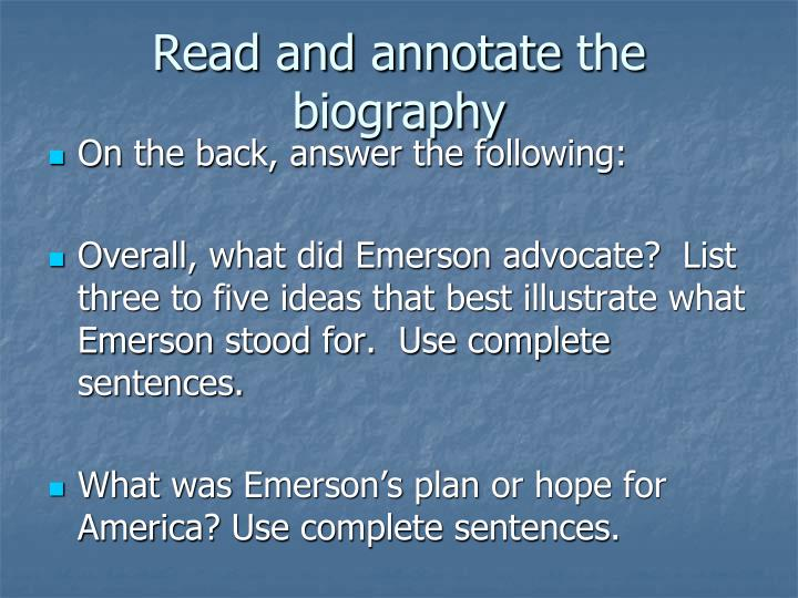 Read and annotate