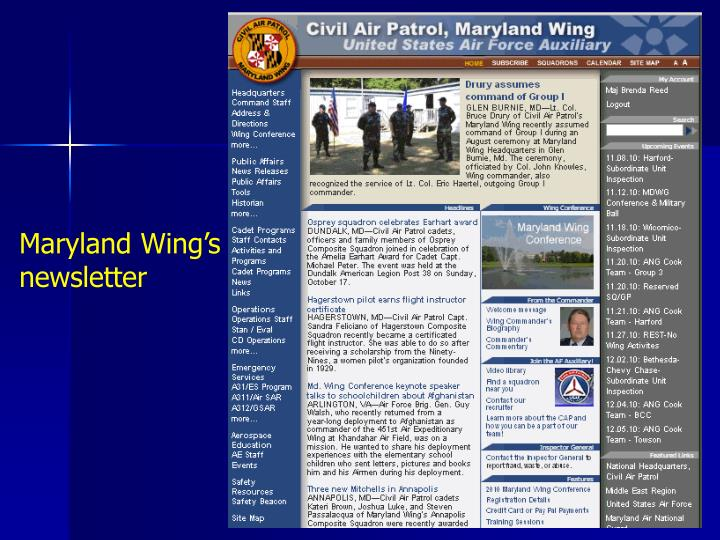 Maryland Wing's