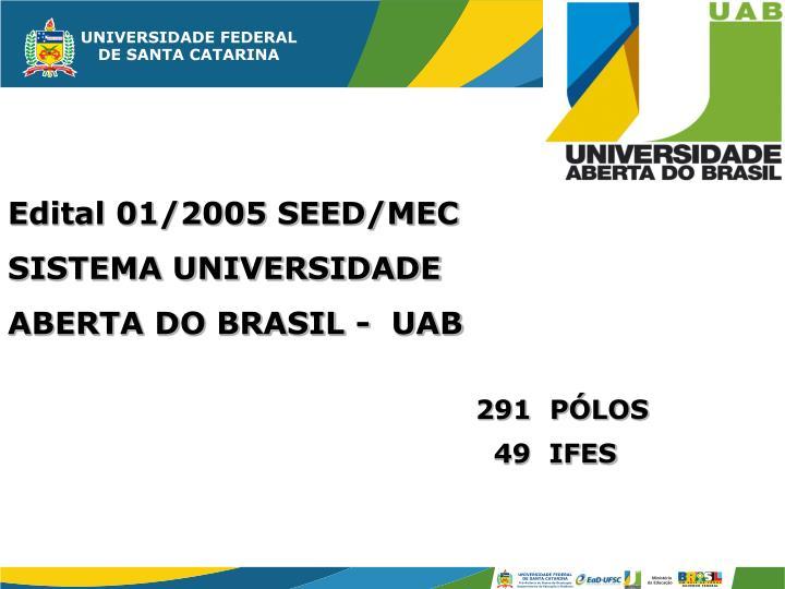 Edital 01/2005 SEED/MEC