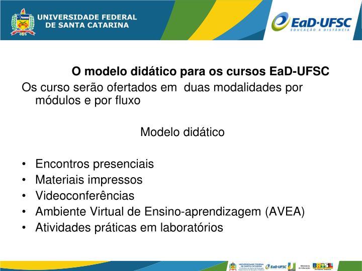 O modelo didático para os cursos EaD-UFSC