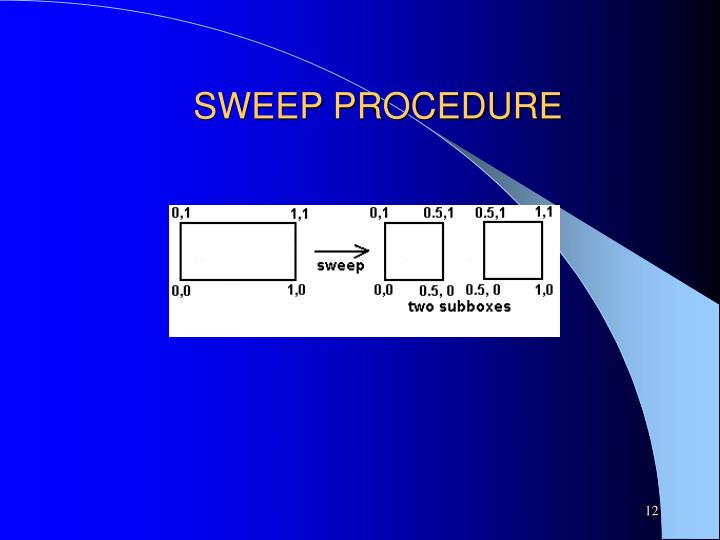 SWEEP PROCEDURE