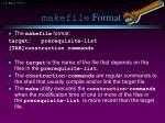 makefile format