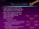 the make utility