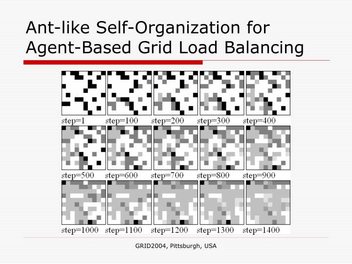 Ant-like Self-Organization for Agent-Based Grid Load Balancing