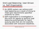 grid load balancing user driven vs self organization